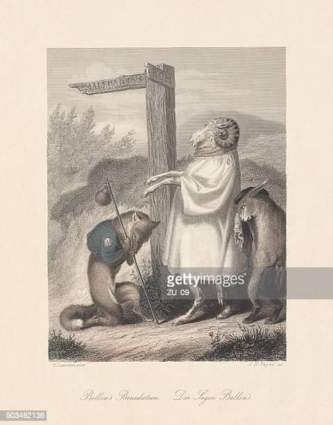 "Bellin's Benediction. Scene from ""Reynard the Fox"", published c. 1855"