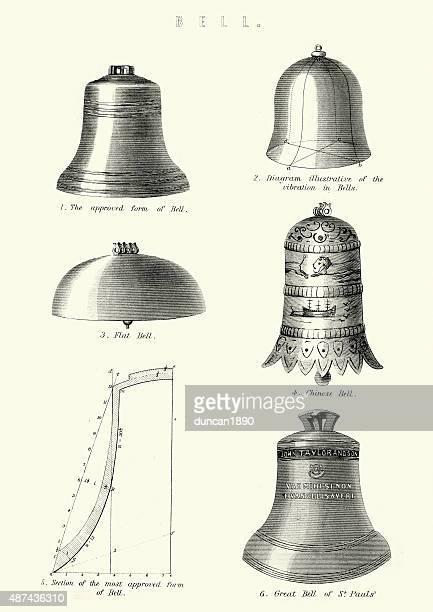 bells - bell stock illustrations