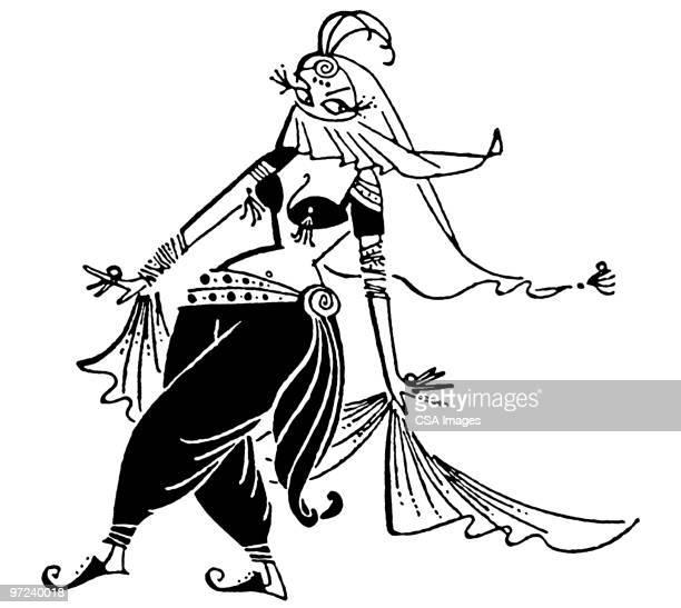 Illustrations et dessins anim s de danseuse orientale - Danseuse orientale dessin ...