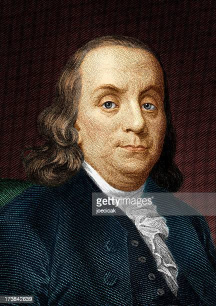 ben franklin colorized - benjamin franklin stock illustrations, clip art, cartoons, & icons