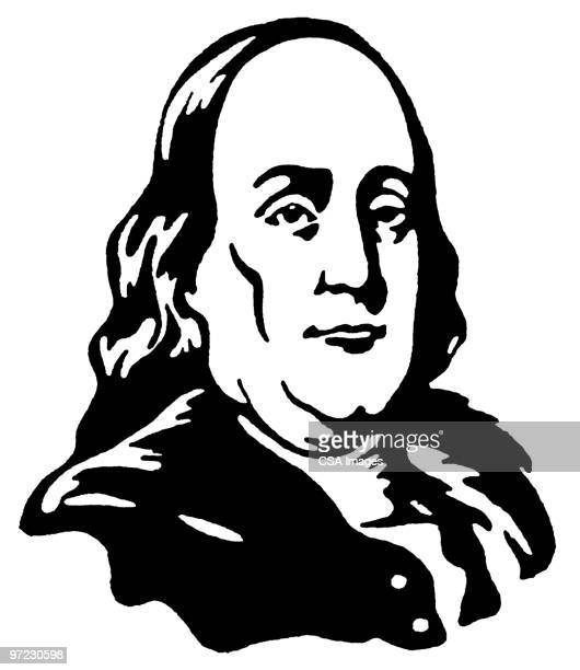 ben franklin - benjamin franklin stock illustrations, clip art, cartoons, & icons