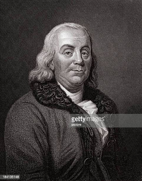 benjamin franklin sepia toned - benjamin franklin stock illustrations, clip art, cartoons, & icons