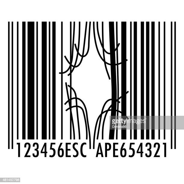 Bent and broken barcode escape concept