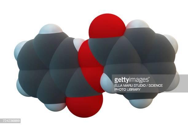 Benzoyl peroxide acne drug molecule