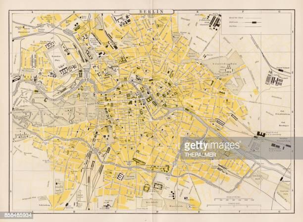 Berlin city map 1893