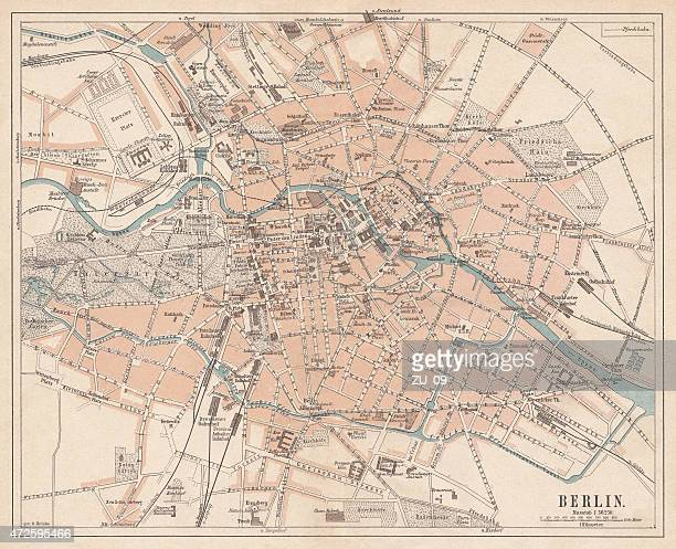 Berlin, city map, lithograph, published in 1874