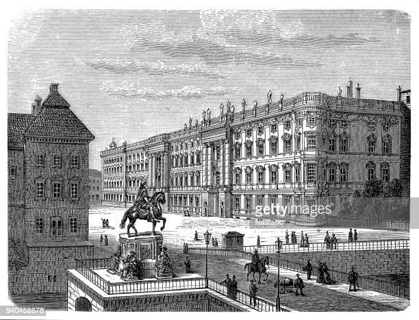 ベルリン市内の宮殿、ベルリン、ドイツ 19 世紀 - ベルリン王宮点のイラスト素材/クリップアート素材/マンガ素材/アイコン素材