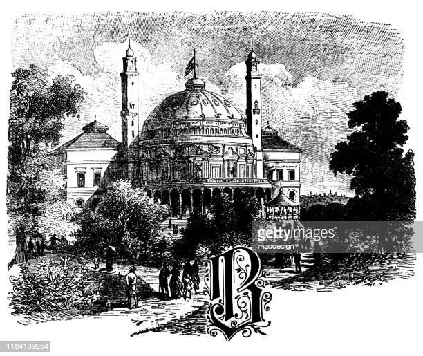 berlin synagogue, letter b and copy space - 1887 stock illustrations, clip art, cartoons, & icons