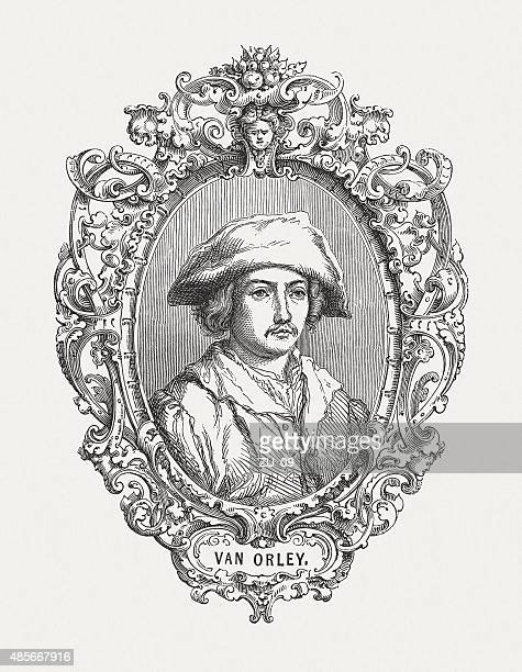 bernard van orley, flemish painter of renaissance, published in 1878 - high renaissance stock illustrations