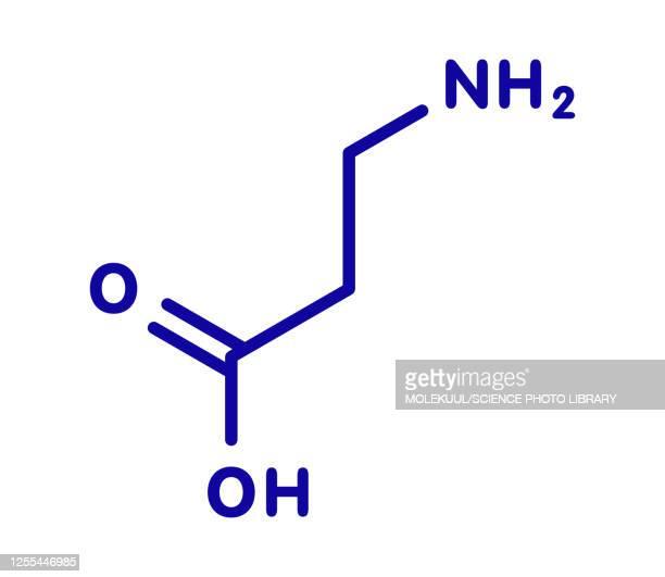 beta-alanine molecule, illustration - chemistry stock illustrations
