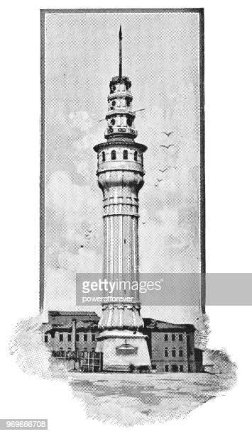 Beyazıt Tower in Istanbul, Turkey - 19th Century