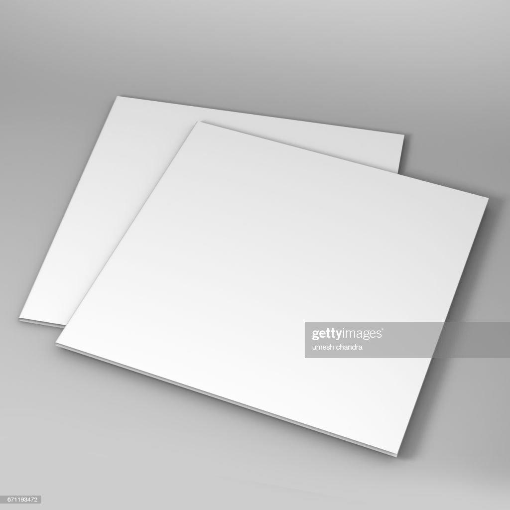 Bi Fold Square Brochure Template D Rendering For Mock Up Stock - 3d brochure template
