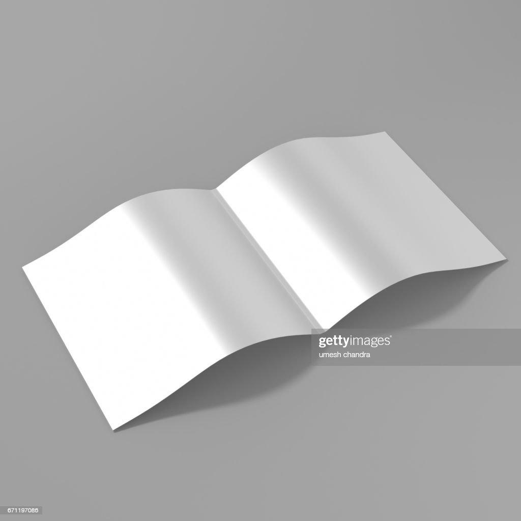 Bi Fold Square Brochure Template 3d Rendering For Mock Up Stock Illustration