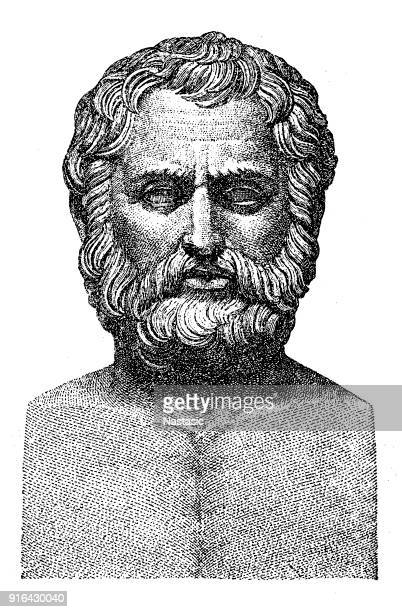 bias of priene - philosopher stock illustrations