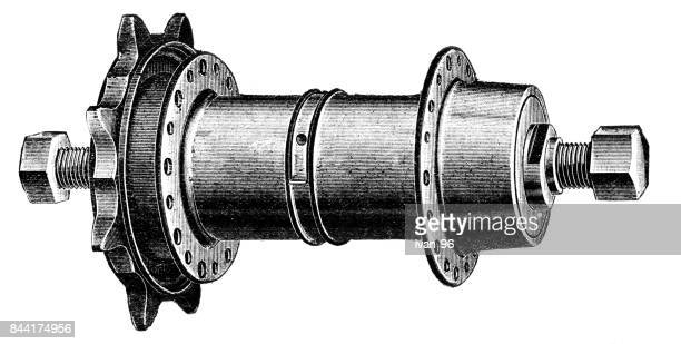 bicycle gear - derailleur gear stock illustrations, clip art, cartoons, & icons
