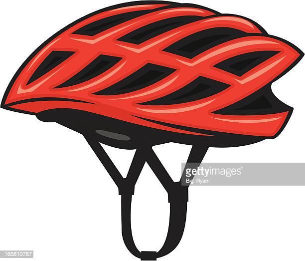 bicycle helmet - bike helmet stock illustrations, clip art, cartoons, & icons
