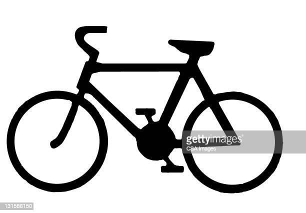 bicycle - design element stock illustrations