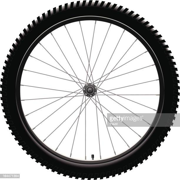 bicycle wheel - air valve stock illustrations, clip art, cartoons, & icons