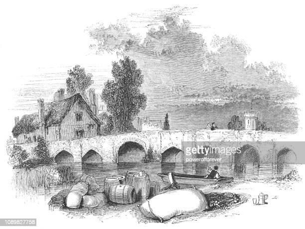Bidford Bridge in Bidford-upon-Avon, England