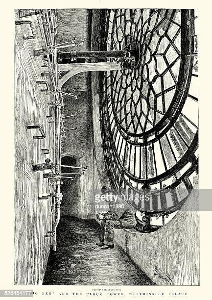 Big Ben behind the Clock Face