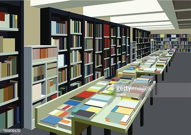 ilustrações, clipart, desenhos animados e ícones de big livraria - livraria