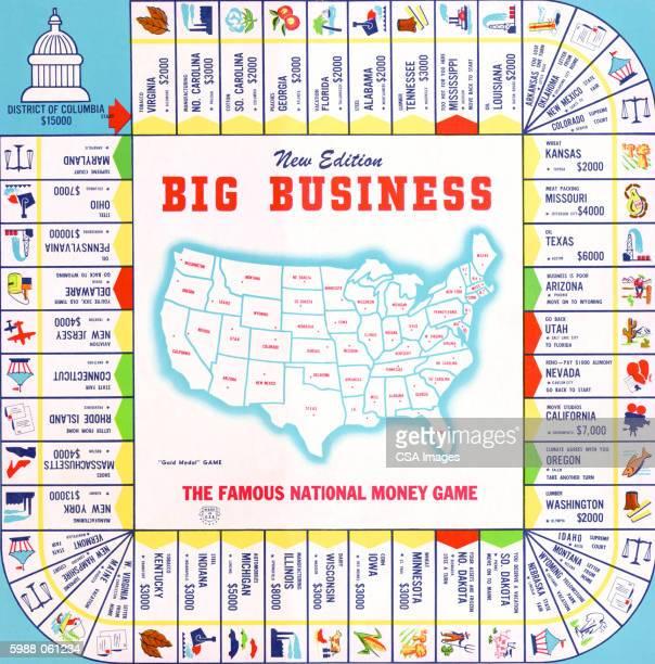 "big business"" board gam - american culture stock illustrations"