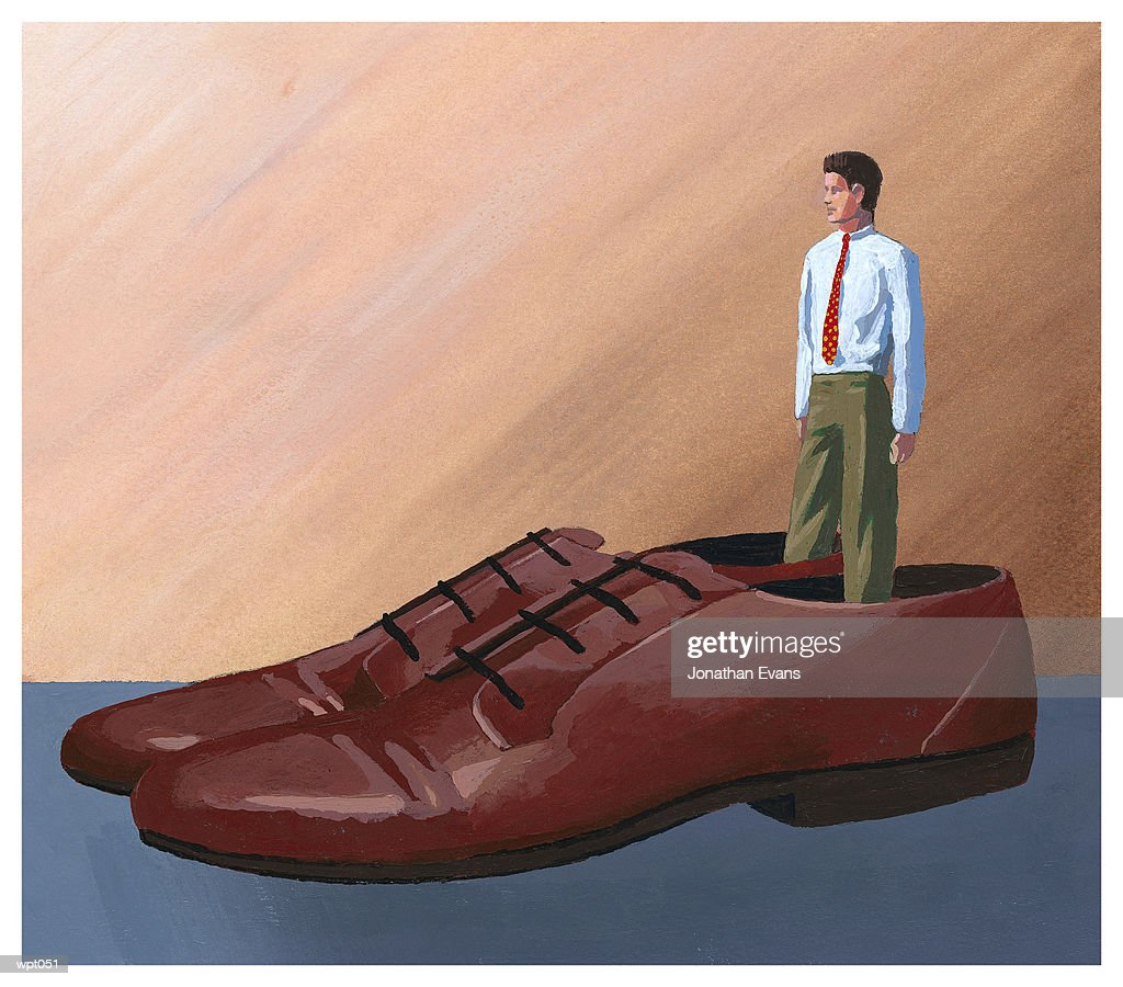 Big Shoes to Fill : Stock Illustration