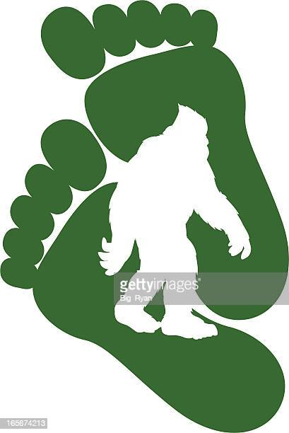 bigfoot design - bigfoot stock illustrations