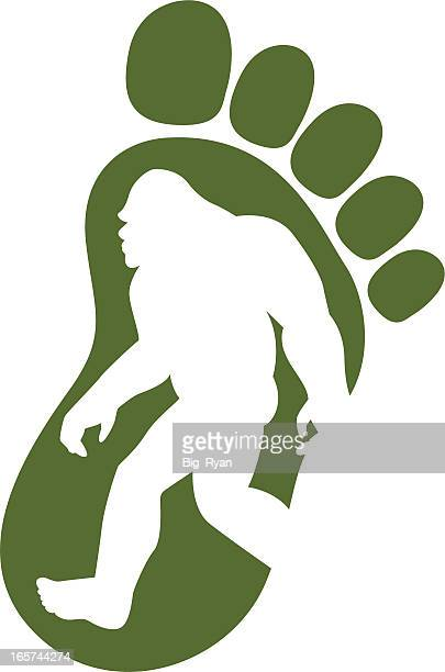 bigfoot icon - bigfoot stock illustrations