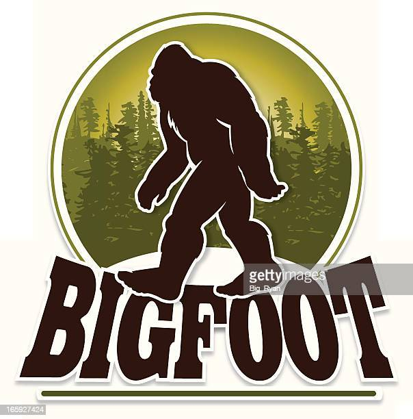 bigfoot text - bigfoot stock illustrations
