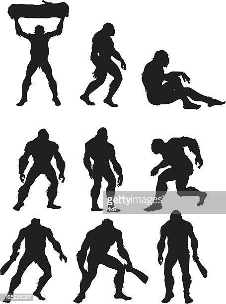 bigfoot the humanoid beast - bigfoot stock illustrations