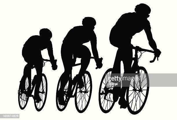 bike race - bicycle stock illustrations