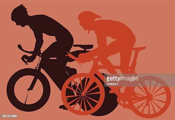 bike race - racing bicycle stock illustrations