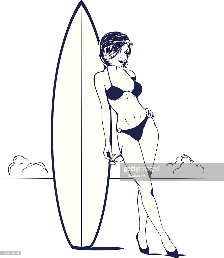 bikini girl on the beach