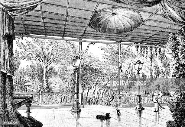billiard room in an egyptian palace - north african ethnicity stock illustrations, clip art, cartoons, & icons