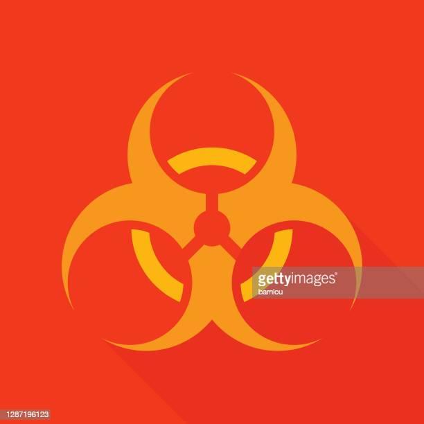 biohazard icon - nuclear fusion stock illustrations