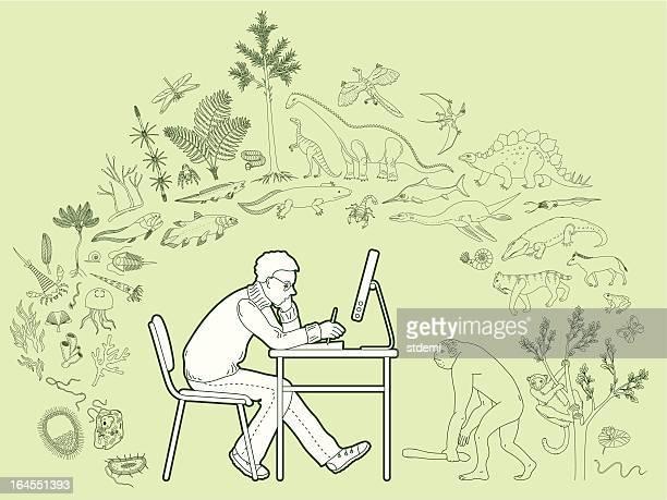 biology - early homo sapiens stock illustrations, clip art, cartoons, & icons