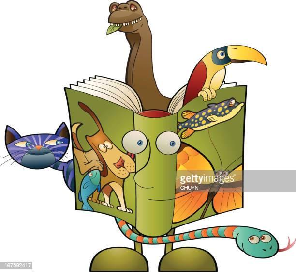 biology textbook - zoology stock illustrations