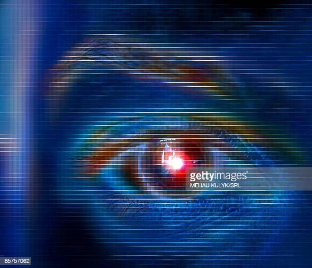 Biometrics, conceptual computer artwork
