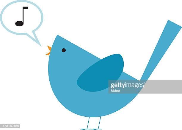ilustrações de stock, clip art, desenhos animados e ícones de a bird singing a song - canto de passarinho