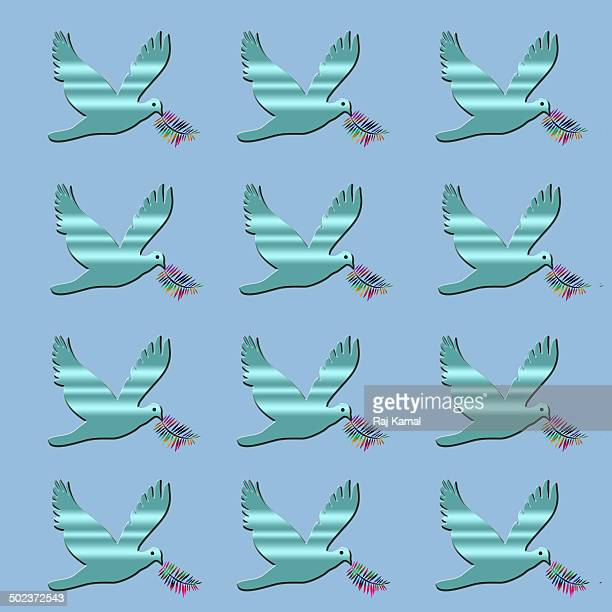birds flying pattern creative abstract design - animal limb stock illustrations, clip art, cartoons, & icons