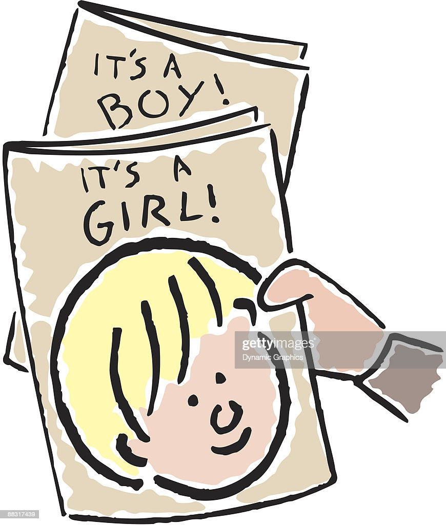 birth announcements its a boy its a girl color vector art getty images