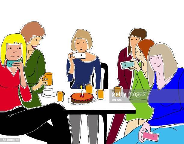 ilustraciones, imágenes clip art, dibujos animados e iconos de stock de cumpleaños - mesa de comedor