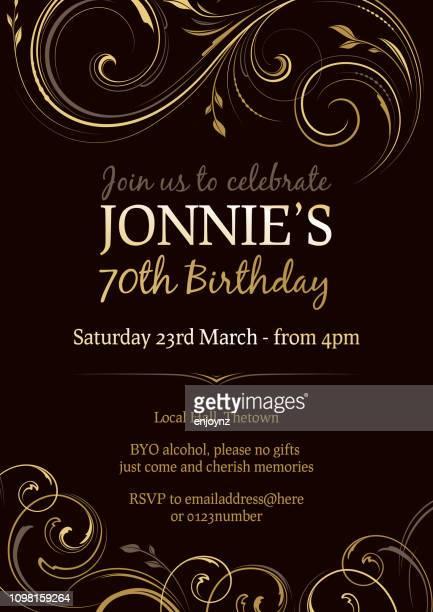 birthday party invite - elegance stock illustrations