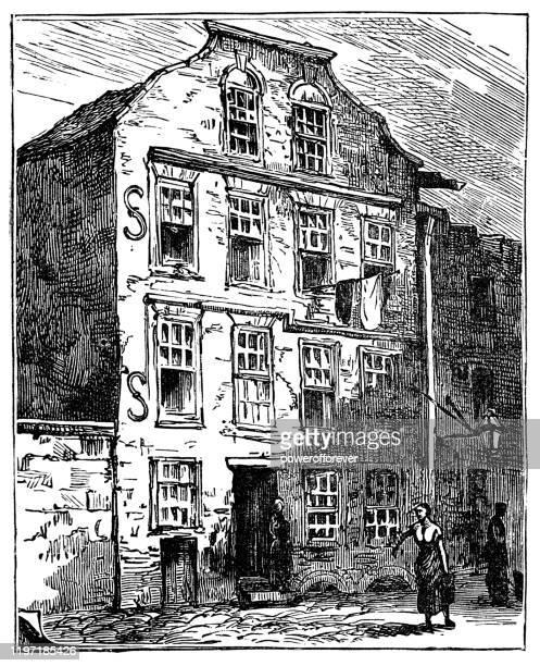 ダブリンのジョナサン・スウィフト発祥の地(19世紀) - 名作 発祥の地点のイラスト素材/クリップアート素材/マンガ素材/アイコン素材