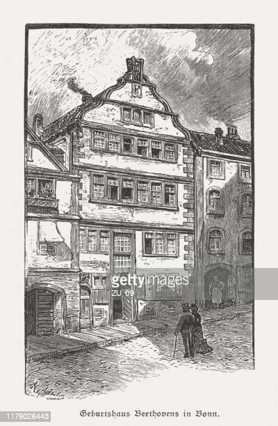ドイツ・ボンのルートヴィヒ・ヴァン・ベートーヴェン発祥の地、1885年出版 - 名作 発祥の地点のイラスト素材/クリップアート素材/マンガ素材/アイコン素材