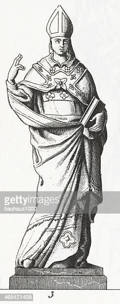 ilustrações, clipart, desenhos animados e ícones de bishop engraving - bishop clergy