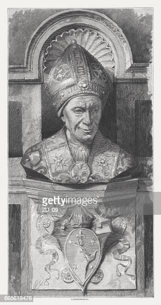 Bishop Leonardo Salutati, sculpted (1462-66) by Mino da Fiesole, Florence