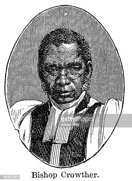 ilustrações, clipart, desenhos animados e ícones de bispo samuel ajayi crowther - bishop clergy