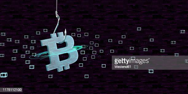 bitcoin as bait for a trap, 3d illustration - germany stock illustrations